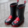 Free shipping Children's Rain Boots Spider Man Winter Baby Boys Snow Boots Boys shoes fashion Baby shoes Children's Rubberboots