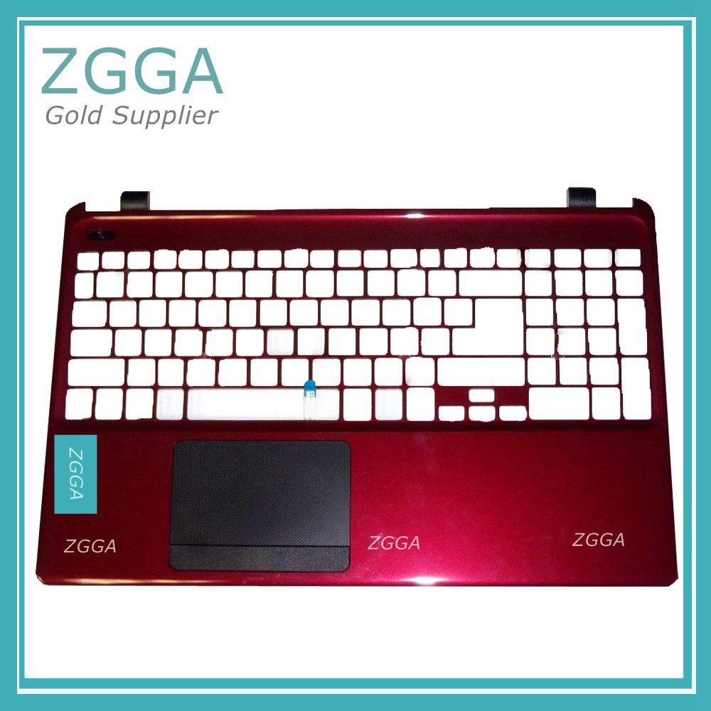 NEW Palmrest With Touchpad Genuine For Acer Aspire E1-572 Upper Case Keyboard Bezel Touch Click Pad Mouse Pad Red AP0VP0007A2 цена
