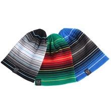 KLV Многослойные Полосой Столкновения Цвет Шерсти Шляпы Громоздкая Зимняя Шапка Вязаная Cap-448E