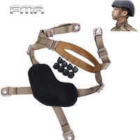 FMA 4 Points Airsoft Tactical Helmet Chin Strap with Bolts and Screws Lanyard H-Nape X-Nape Pad Harness for MICH ACH Helmet