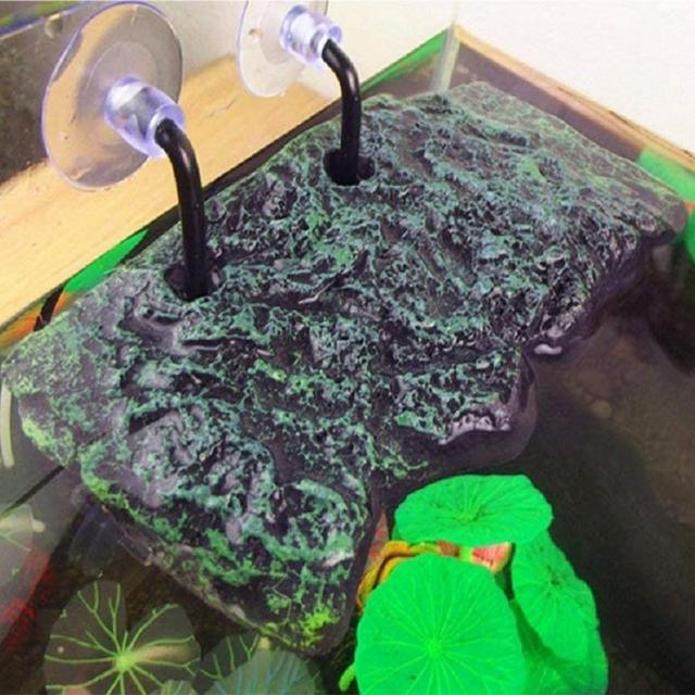 LanLan Turtle Bask Platform with Sucking Disk Rectangular Basking Platform Aquarium Terrarium Decoration
