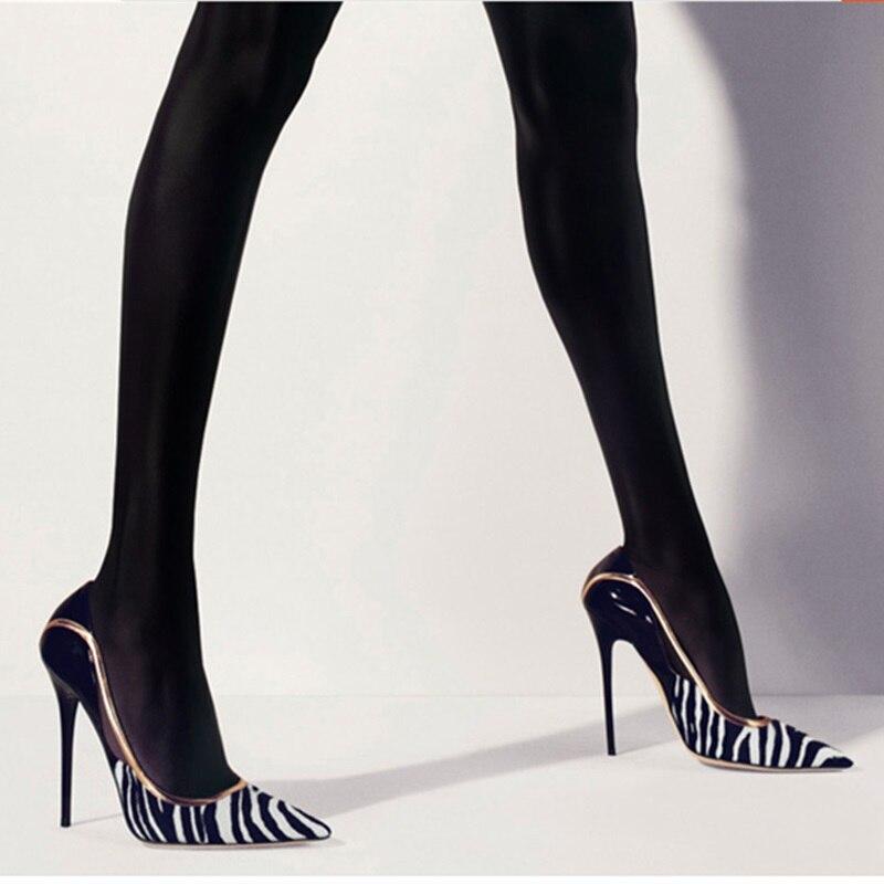 Sexy Cuir Escarpins Pompes En Haute Bout Pointu Patchwork Talons Femmes Cheval Détouré Mode À Clair Chaussures Super multi Hauts Nouveau Verni YPpCqxg