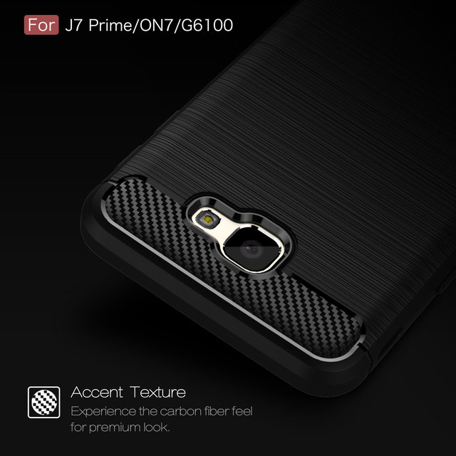 TPU Case for Samsung Galaxy J 7 J7 Prime Duos G610 G610M G610F G610M/DS Carbon Fiber Cover SM-G610M/DS SM-G610F Phone Cases