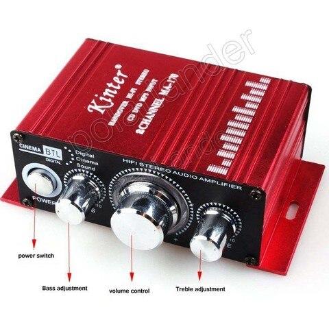mini 2 canais potencia de saida amplificador