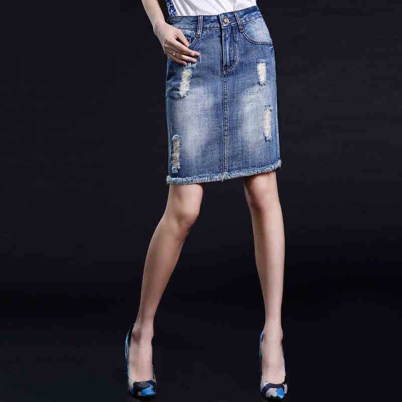 Online Buy Wholesale destroyed denim skirt from China destroyed ...