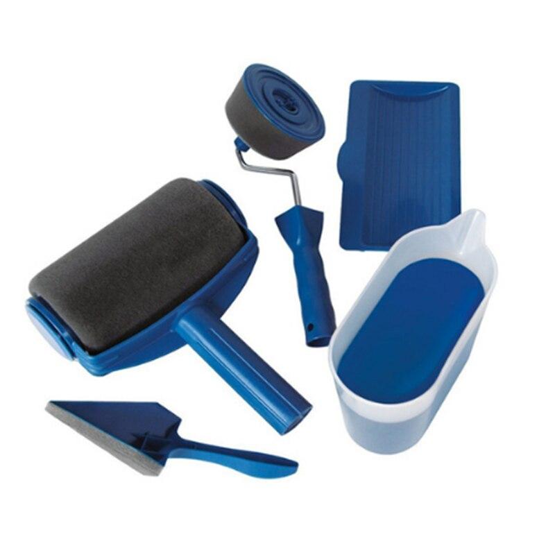 NEUE Farbe Runner Pro Roller Pinsel Griff Werkzeug Strömten Edger Büroraum Wandmalerei Home Garten Werkzeug Roller Pinsel Set