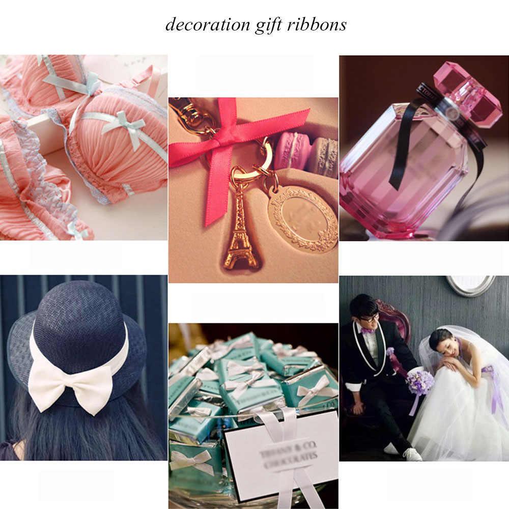 25 חצרות/רול מבהיקי סרטי סאטן לחתונה מסיבת חג המולד קישוטי DIY קשת סרטי קרפט כרטיס מתנות גלישה מספקת