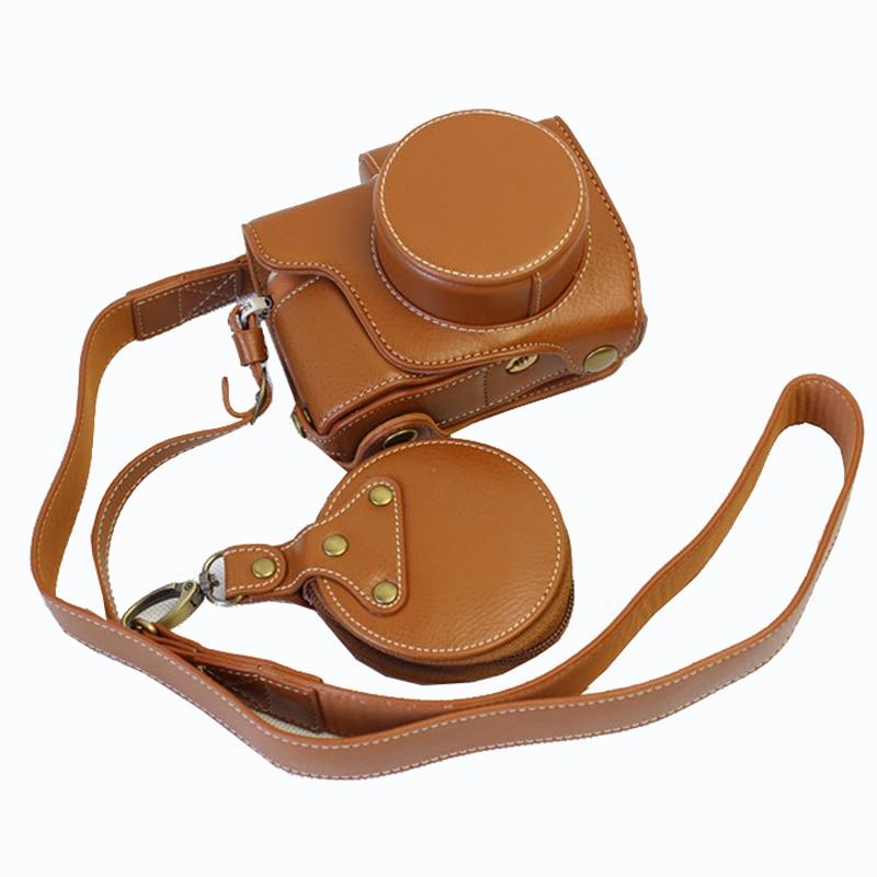 Etui de haute qualité en cuir véritable pour appareil photo avec sangle pour Olympus E-PL8 EPL8 EPL7 E-PL7 couverture Vintage de luxe Portable
