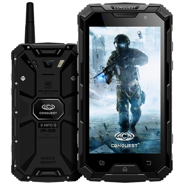 Original Octa Core Conquest S8 Waterproof Phone 4GB RAM 64GB ROM Android 6 IP68 16MP Camera 6000mah shockproof Smartphone