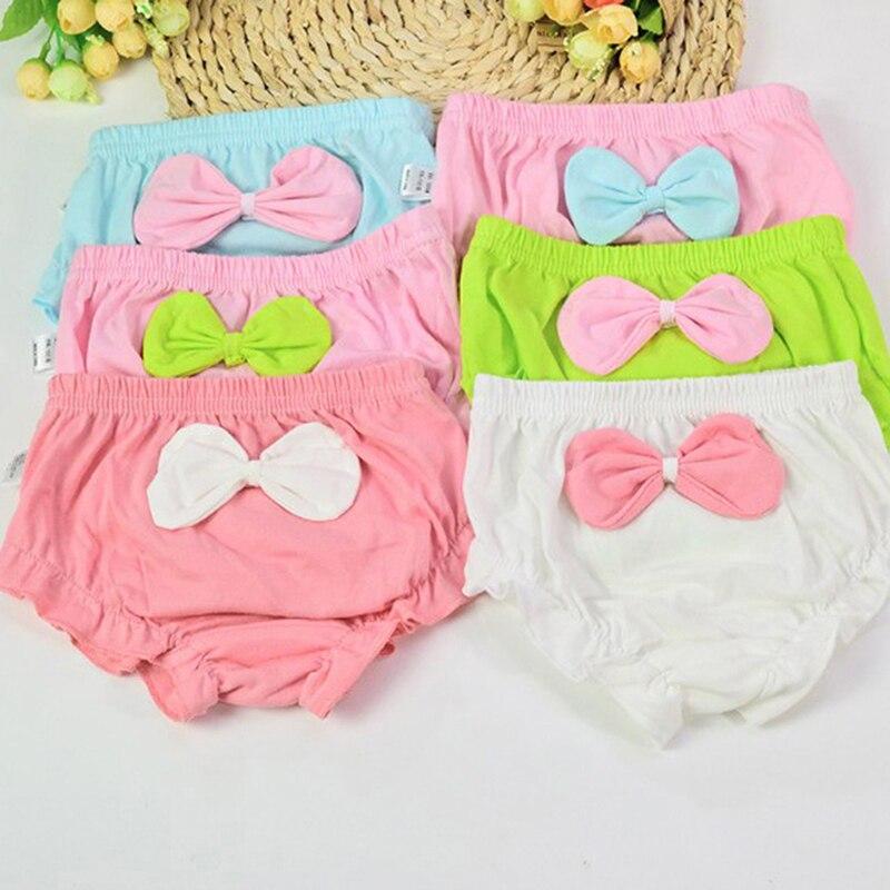 1 Stks Leuke Zuigeling Shorts Grote Boog Katoenen Ondergoed Slipje Voor Kinderen Onderbroek Kids Baby Geschenken 4 Kleuren Lange Levensduur