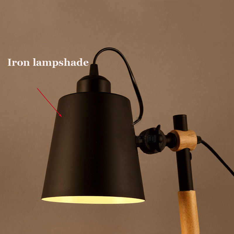 Синяя Ретро Лофт настольная лампа для спальни гостиной офисная лампа регулируемые светильники E27 Эидсон настольная лампа
