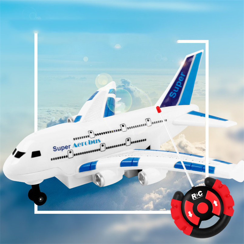 Electric RC Plane Toy Kids Remote Control Airplane Model Electrical Outdoor Game Boys Musical Lighting Aircraft Toys For Child