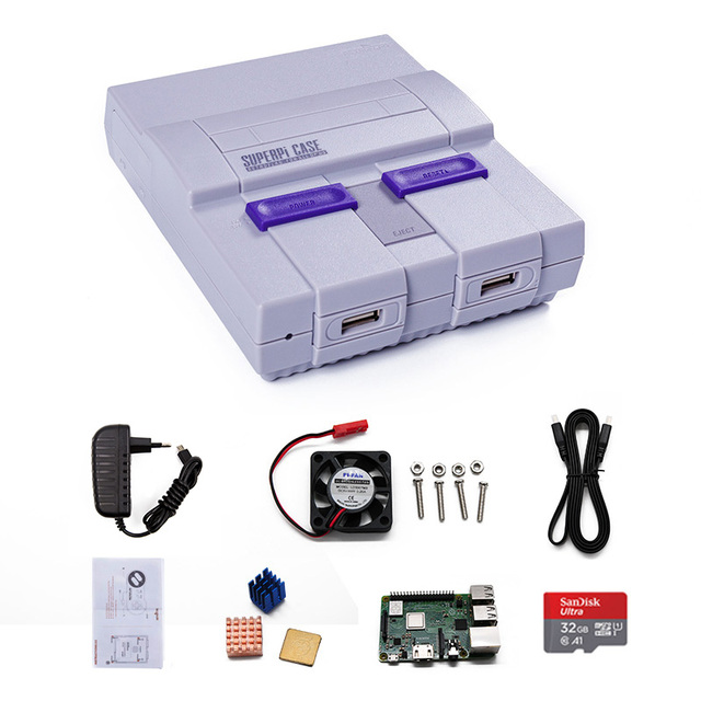 New Retroflag case SUPERPi CASE-U for Raspberry Pi 2B/3B/3B+(3 B Plus) TV/Video Game Console with Wired USB Game Controller