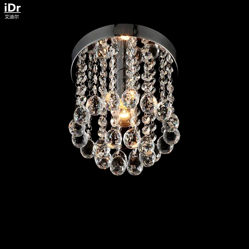 Crystal Light aisle lights restaurant lamps bedroom modern minimalist circular balcony porch lights Ceiling Lights Rmy-0127