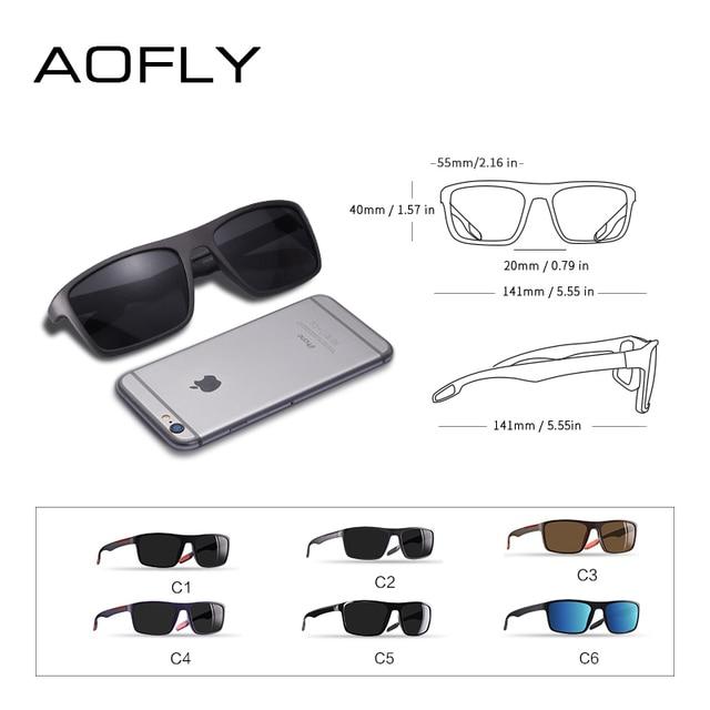 AOFLY DESIGN Ultralight TR90 Polarized Sunglasses Men Driver Shades Male Vintage Sun Glasses For Men Spuare Eyewear Gafas De Sol 8