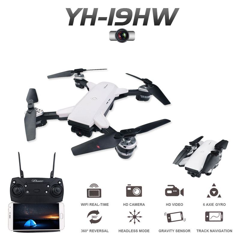 ZWN RC Selfie Drone With 0.3mp or 2mp HD WIFI FPV Camera 6-Axis RC Helicopter Real Time Quadcopter vs Visuo XS809HW Eachine E58