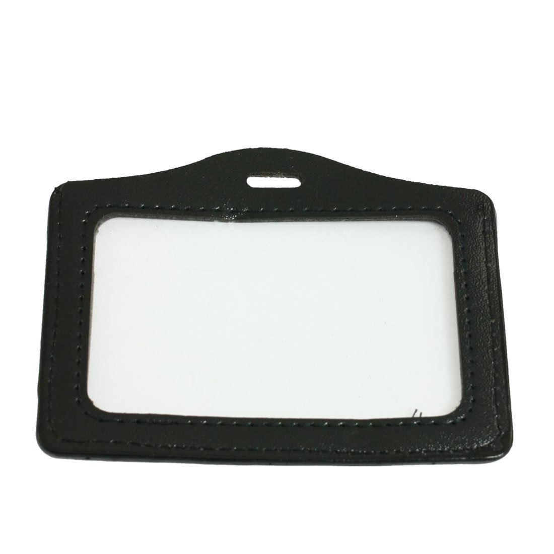 10 Pcs Black Clear Business ID Card Badge Holder