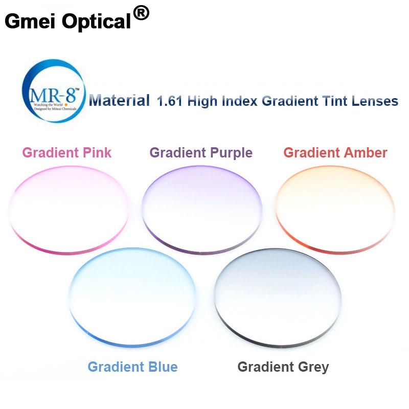 Radiation Protection 1 61 High Index MR 8 Super Tough Gradient Tint HMC EMI Anti UV