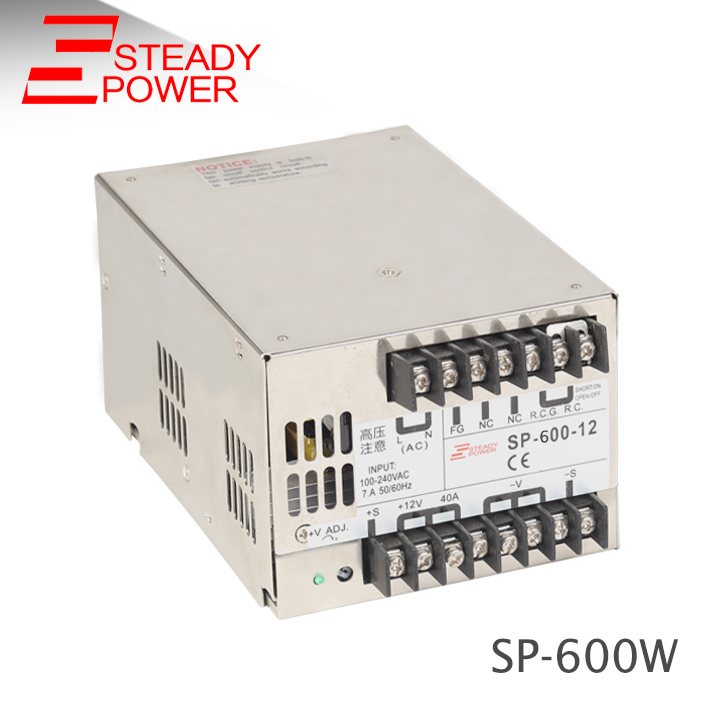 24 volt 25 amp SMPS transformer 600w single output type ac-dc switching mode power supply with PFC SP-600-24 industrial machinery switching mode power supply 36v 16 6a 600w sp 600 36 with ce certified