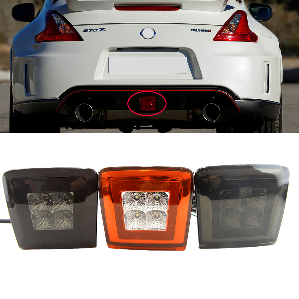 1pcs All in one LED Rear Fog Light Brake and Backup Reverse Light For 2009 14