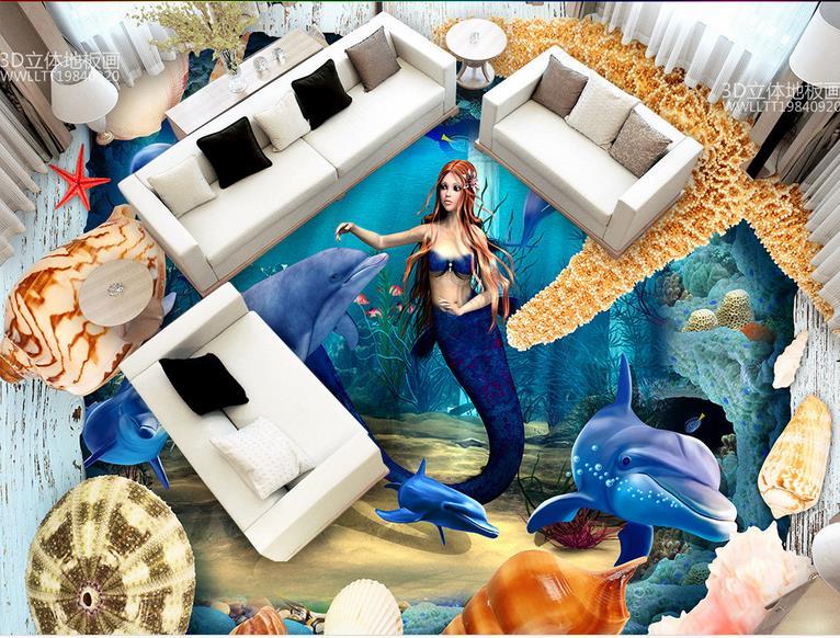 3d floor murals Ocean World 3d stereoscopic wallpaper vinyl flooring wall murals wallpaper living room european wallpaper 3d visual volcano floor vinyl wall sticker
