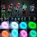 Hot 1 pcs moda 3 m flexível el neon fio de luz para dance party car decor + controlador festival vestido fantástico