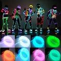 Hot 1pcs  Fashion 3M Flexible EL Wire Neon Light for Dance Party Car Decor+Controller Festival Dress Fantastic