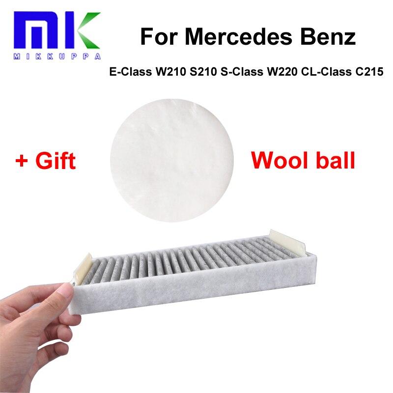 Car Parts Carbon <font><b>Cabin</b></font> <font><b>Filter</b></font> For <font><b>Mercedes</b></font> <font><b>Benz</b></font> E-Class W210 S210 S-Class W220 CL-Class C215 Auto Accessories OEM:2108301018