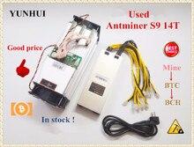YUNHUI Verwendet AntMiner S9 14T Bitcoin BCH Miner Mit NETZTEIL Asic Miner Besser Als Antminer S9 13,5 T T9 + S11 S15 WhatsMiner M3