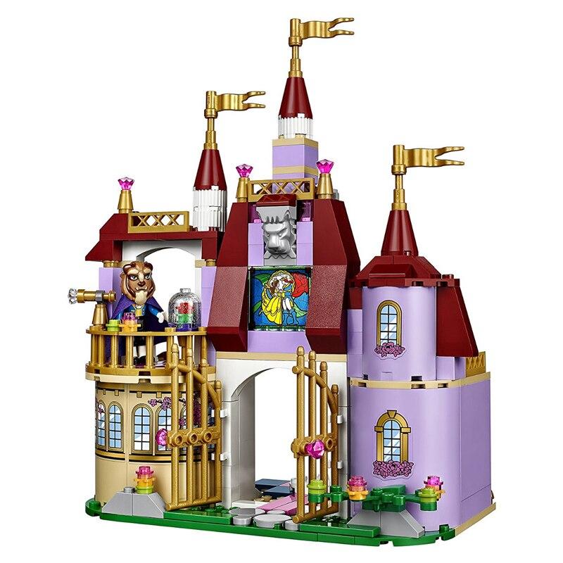 Qunlong 379pcs Princess Belles Enchanted Castle Building Blocks For Girl Friends Kids Model Toys Compatible Legoe Children Gift 2