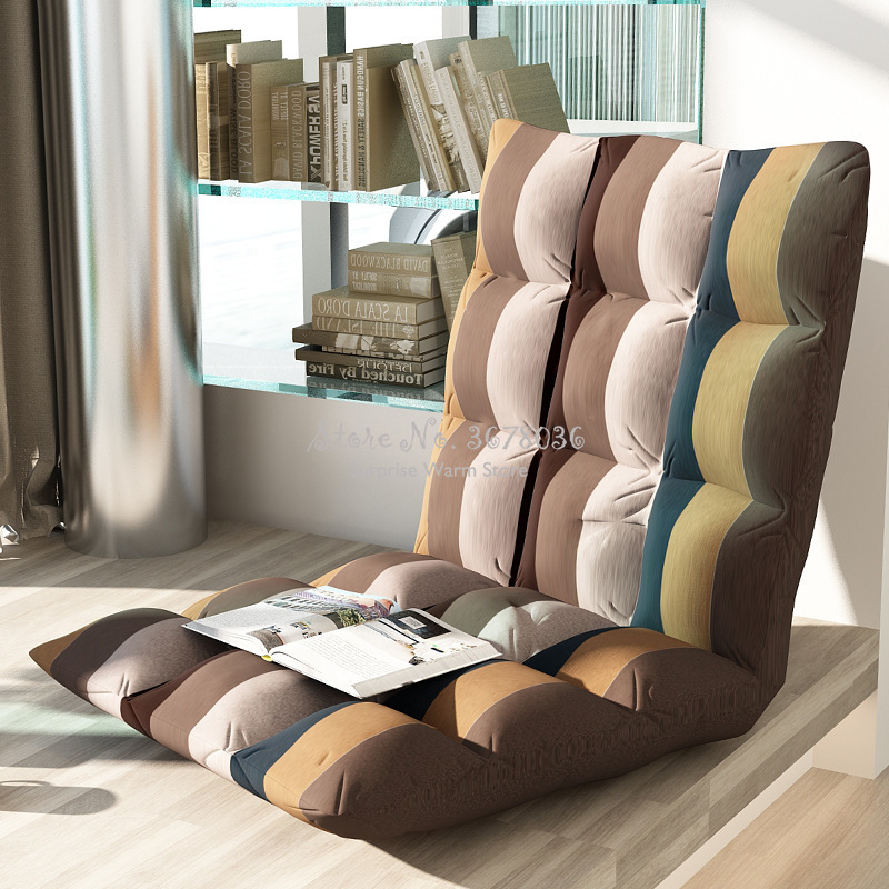 Foldble Lazy Sofa Simple Modern Multi-function Folding Chair Balcony Leisure Sofa Domoty 6 Gear Adjustable Washable Seat Sofa