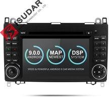 Isudar Car Multimedia Player GPS Android 9 2 Din DVD Automotivo Per Mercedes/Benz/Sprinter/B200/ b-class/W245/B170/W169 Radio DSP