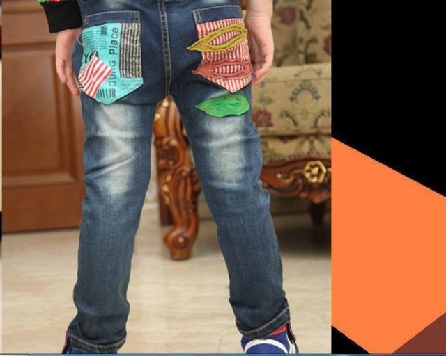 Envío gratis nuevos niños ropa niños pantalones largos versión Coreana otoño e invierno de los niños pantalones vaqueros