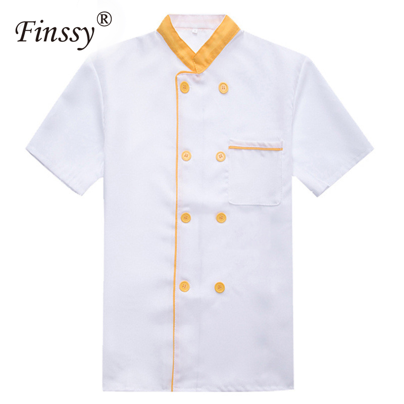 Chef Clothing Short Sleeve Half Sleeves Summer Spring Hotel Canteen Chef Uniforms Cook Cosplayer Uniform