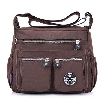 Women Nylon Shoulder Bags Female Solid Zipper Luxury Female Handag Designer Messenger Bags Summer Beach Crossbody Bag Sac A Main