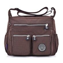 Для Женщин нейлоновые сумки женский сплошной молнии роскошная женская Handag дизайнер Курьерские сумки летняя пляжная сумка Sac основной