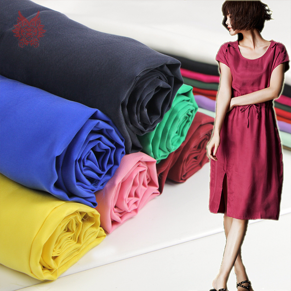 Chinese cheap fabrc multi color solid weighted 100% cupro