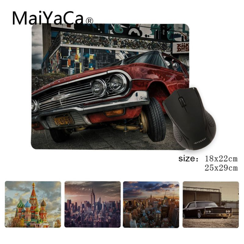 MaiYaCa Funny City car Beautiful Anime Mouse Mat Size for 180x220x2mm and 250x290x2mm Small Mousepad image