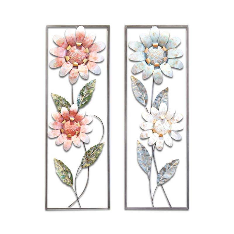 Flower Iron Cage Wall Hanging Mural Home Crafts Decor 3D Stereo Office House Background Wall Sticker Decoration R1203