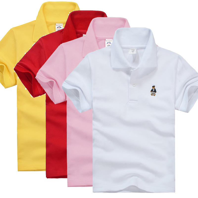 High quality kids boys polo shirt baby boy girl clothes for Toddler boys polo shirts