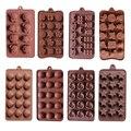 Cubo de hielo de silicona 15 lattices forma de flor Rosa remolinos moldes de chocolate moldes de torta estrella corazón shell etc