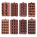 Silicone Ice cube 15 lattices rose flower shape swirls chocolate molds cake moulds star heart shell etc