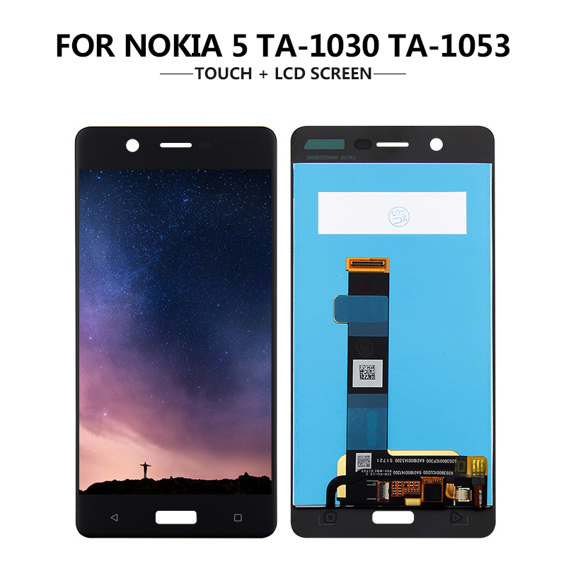 For <font><b>Nokia</b></font> <font><b>5</b></font> N5 TA-1008 TA-1030 TA-<font><b>1053</b></font> Touch <font><b>Screen</b></font> Digitizer For Nokia5 LCD Display Assembly Free shipping image