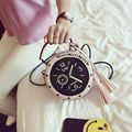 Japanese Street Style Funny Circular Shoulder Bag Halloween Party Messenger Women Purse Clock Round Shape Cute Crossbody A039