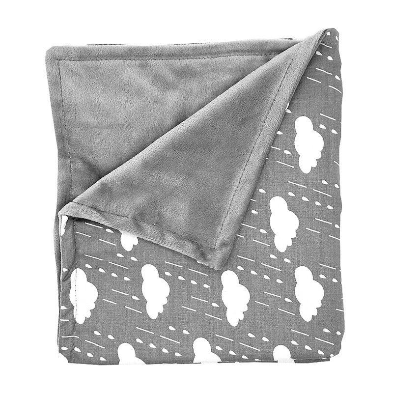 80*75 CM Nordic Baby Blanket Newborn Flannel Print Pattern Super Soft  Trolley Air Conditioning Blanket Swaddling Baby Bedding