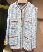 High quality tweed jackets coat women 2019 spring elegant G080
