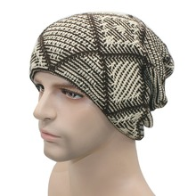 Unisex Autumn Winter Warm Beanies Hats Men Women Wool Knitted Caps Turban Bonnet Femme Homme