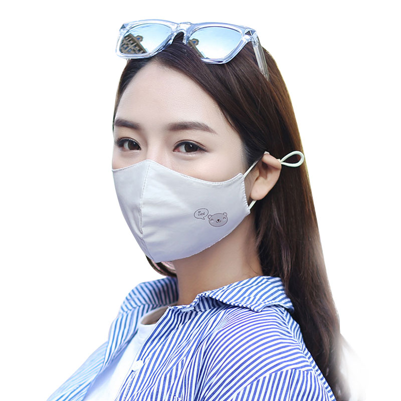 1Pcs Fashion Bear Anti Dust Face Mouth Cover Mask Respirator - Dustproof Anti-bacterial Washable - Reusable Comfy Masks