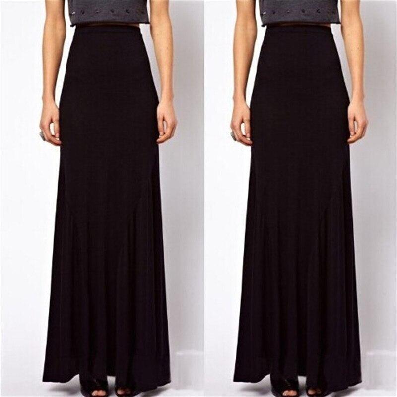 373baa11cf 6XL Maxi Skirt Faldas Womens Summer Style Casual High Waist Black Plus Size  5XL Saias Longa Long Cotton Pencil Skirts-in Skirts from Women's Clothing &  ...