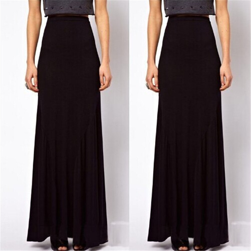 Popular Black Cotton Long Skirt-Buy Cheap Black Cotton Long Skirt ...
